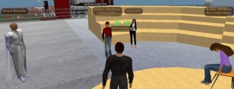 Professor Paulo Dias/Professor Diesel em encontro no Second Life